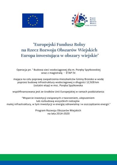 Budowa sieci wodociągowej dla m.Poręba Spytkowska